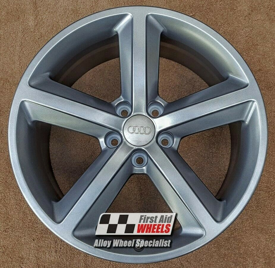 "R527GS EXCHANGE for Ours AUDI TT 4X 18"" GENUINE 5 SPOKE SATIN GREY ALLOY WHEELS"