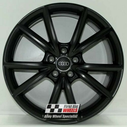 "R569BS Exchange AUDI A3 S3 8V 4x 19"" GENUINE 5 V SPOKE SATIN BLACK ALLOY WHEELS"