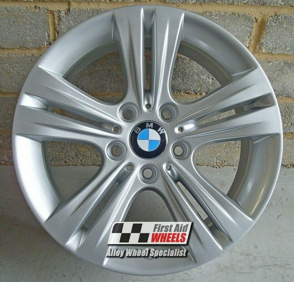"R572S Exchange BMW 3/4 SERIES 4x 17"" GENUINE STYLE 392 SILVER ALLOY WHEELS"