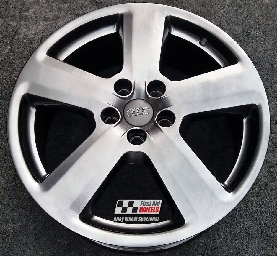 "R119 Smoked Chrome AUDI A4 A6 18"" - 5 Spoke Genuine S-LINE Alloy Wheels set of 4 - Exchange"