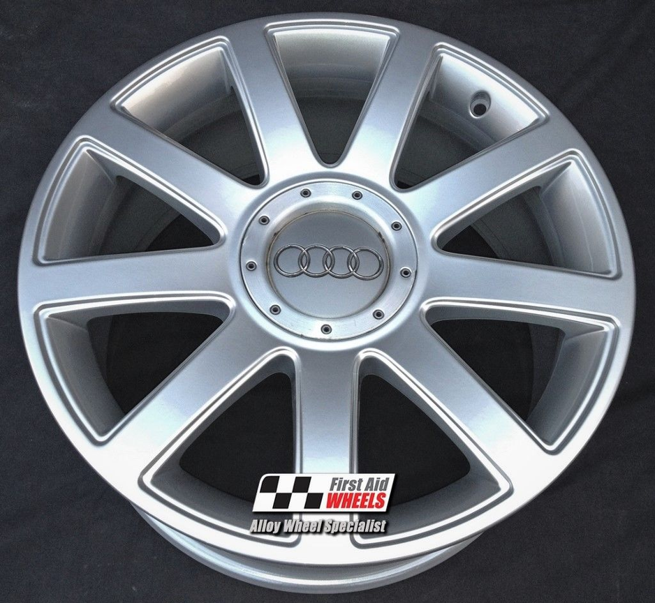 "R167 Silver AUDI TT S3 18"" - 9 Spoke RS4 Design Genuine Alloy Wheels set of 4 - EXCHANGE"