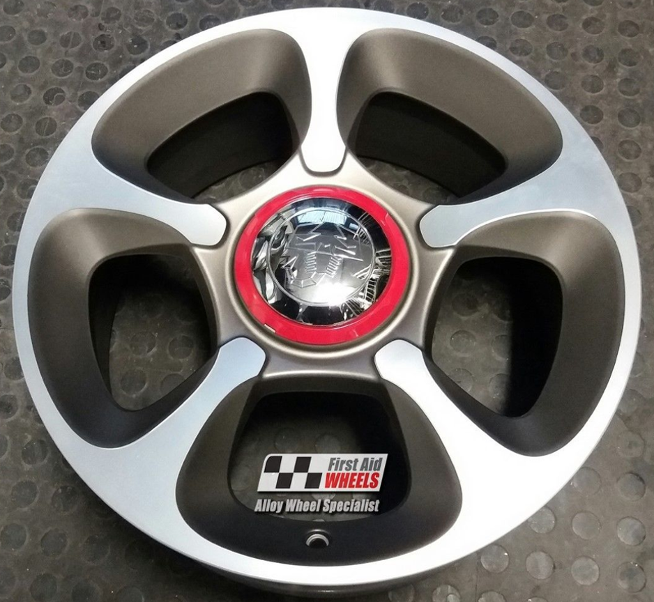 R407 Diamond Cut FIAT 500 ABARTH 17'' - Genuine Alloy Wheels Set of
