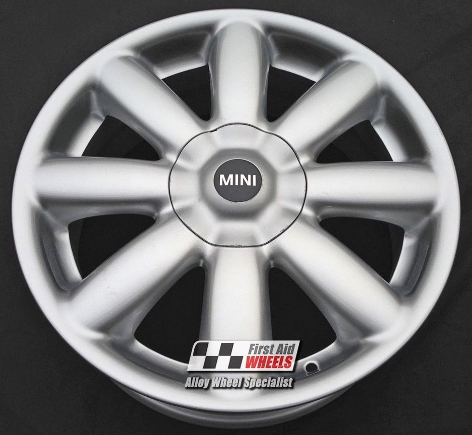 "R152 Silver MINI COOPER S 17"" - CROWN Spoke Genuine Alloy Wheels Set of 4 - EXCHANGE"