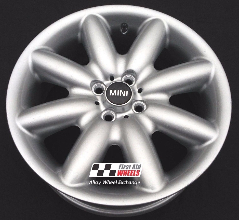 "R118 Silver MINI COOPER S 17"" - R85 S Spoke Genuine Alloy Wheels R118 Set of 4 - Exchange"