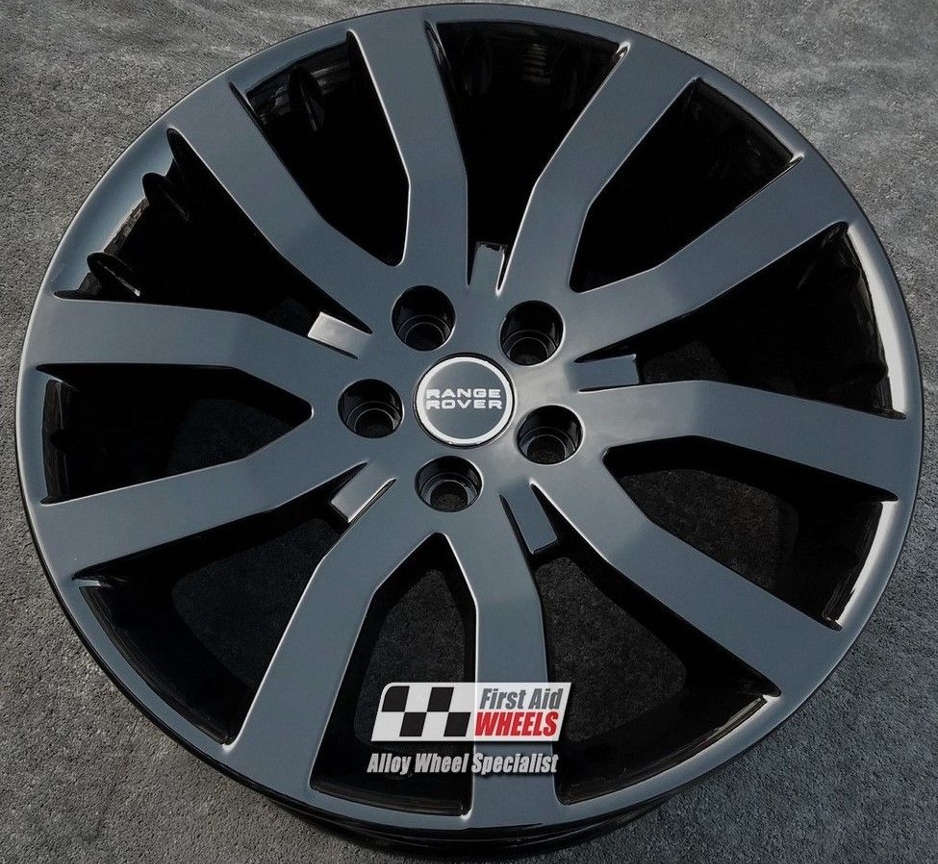 "R124 Gloss Black RANGE ROVER SPORT 20"" - SUPERCHARGED Genuine Alloy Wheels Set of 4 - Exchange"