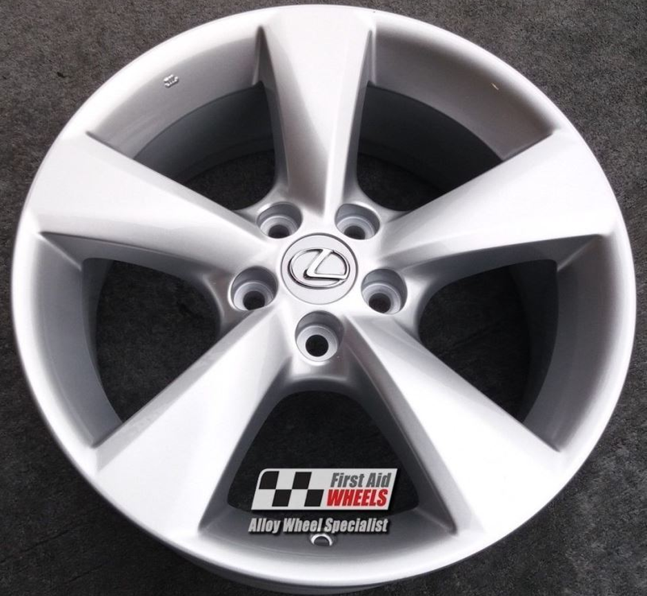 "R451 Silver LEXUS RX 350 18"" - 5 Spoke Genuine Alloy Wheels Set of 4 - EXCHANGE"