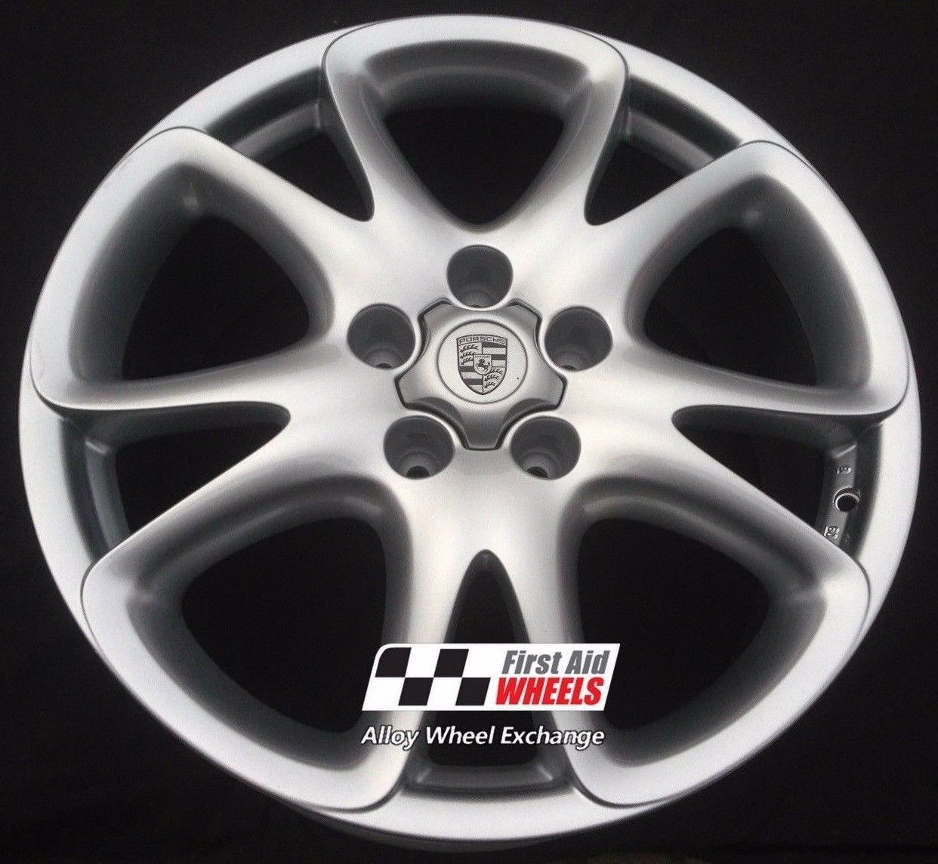 "R163 Silver PORSCHE CAYENNE 20"" - SPORT DESIGN Genuine Alloy Wheels Set of 4 - EXCHANGE"