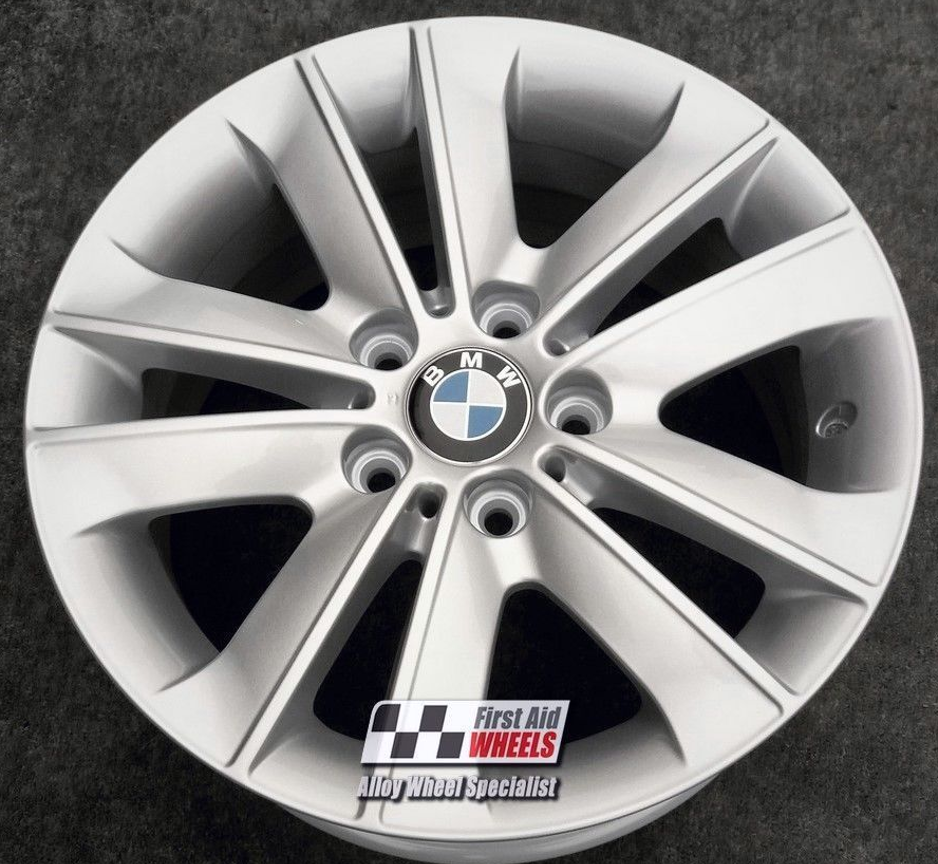 "R344 Silver BMW 1 SERIES E81 E82 E87 17"" - Style 141 Genuine Alloy Wheels Set of 4 - EXCHANGE"