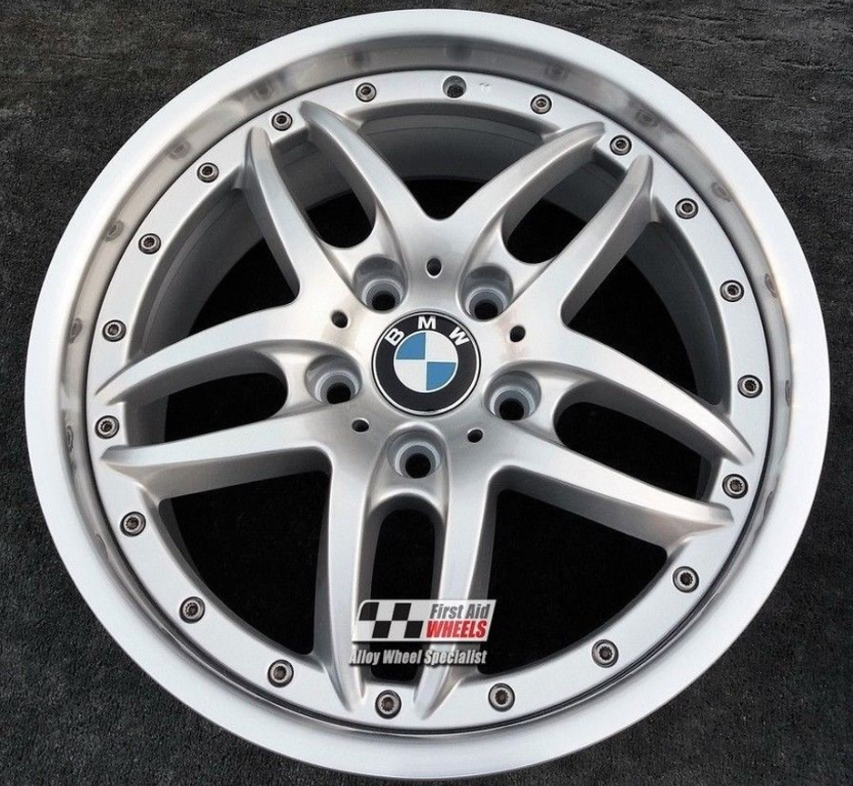 "R201 Diamond Cut Silver BMW 5 SERIES E39 17"" - Style 71 CLUBSPORT Genuine Alloy Wheels Set of 4 - EXCHANGE"