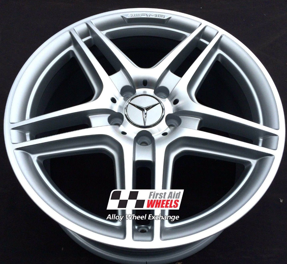 "R121 Diamond Cut Silver MERCEDES C-CLASS 18"" - AMG Genuine Alloy Wheels Set of 4 - Exchange"