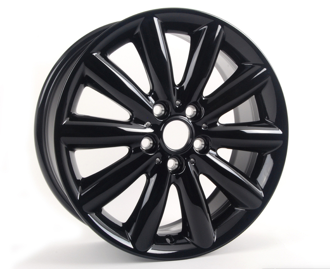 "Mini F55 F56 Hatchback 17"" 499 Cosmos Spoke Genuine Black Alloy Wheel"