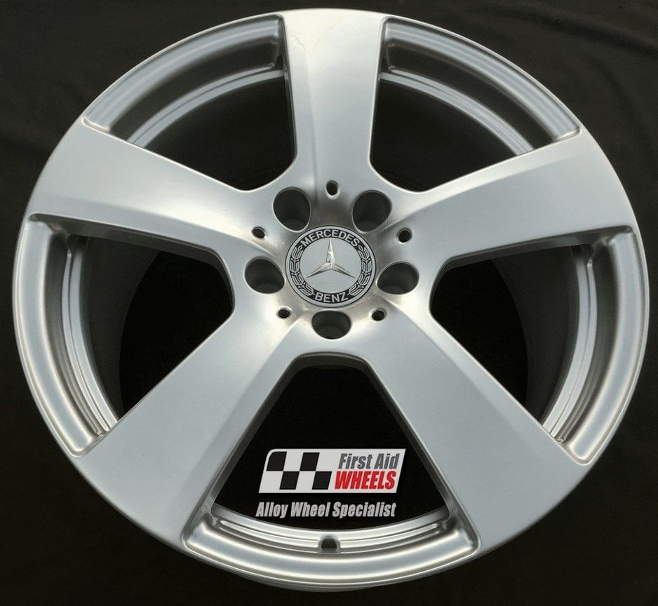 "R368 Silver MERCEDES E-CLASS COUPE/CONVERTIBLE 18"" - 5 Spoke Genuine Alloy Wheels Set of 4 - EXCHANGE"