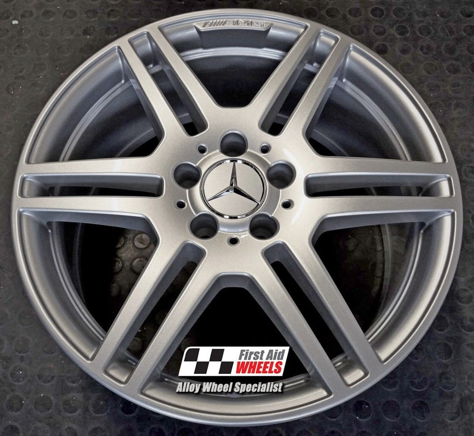 "R288 Silver MERCEDES E CLASS ESTATE/SALOON 18"" - AMG IV Genuine Alloy Wheels Set of 4 - EXCHANGE"