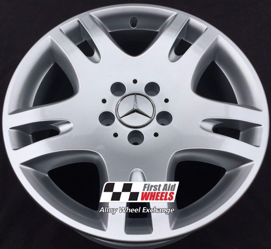 "R257 Silver MERCEDES E CLASS W211 17"" - ANKAA Genuine Alloy Wheels Set of 4 - EXCHANGE"