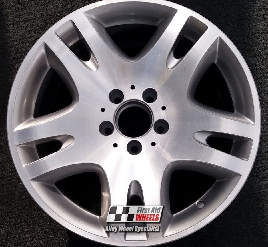 "R257 Diamond Cut Silver MERCEDES E CLASS W211 17"" - ANKAA Genuine Alloy Wheels Set of 4 - EXCHANGE"