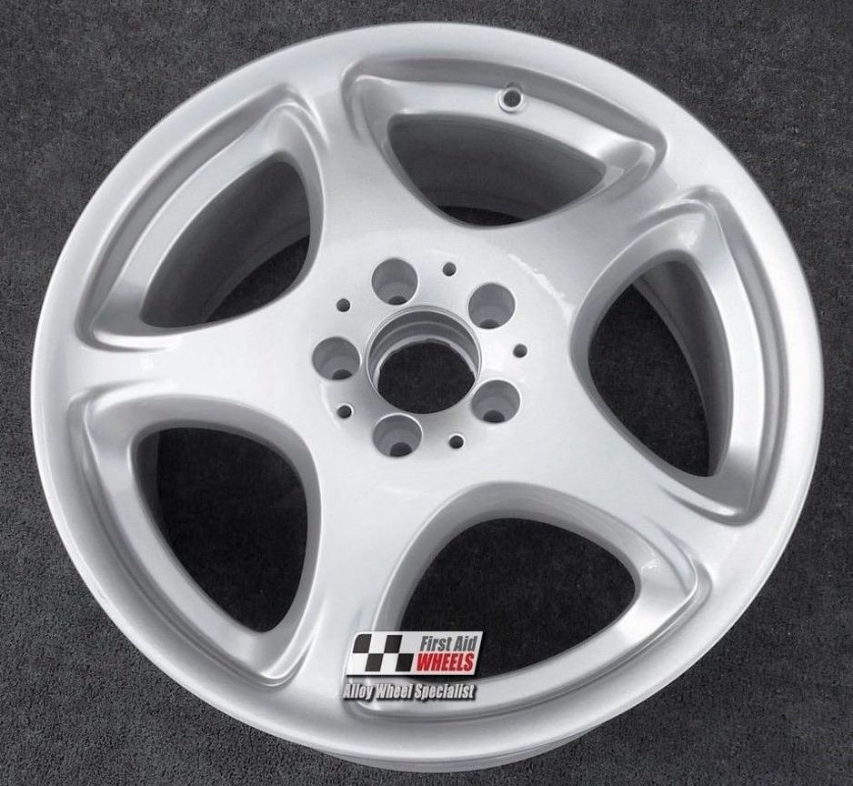 "R268 Diamond Cut Silver MERCEDES S CLASS W220 18"" - DIFDA Genuine Alloy Wheels Set of 4 - EXCHANGE"
