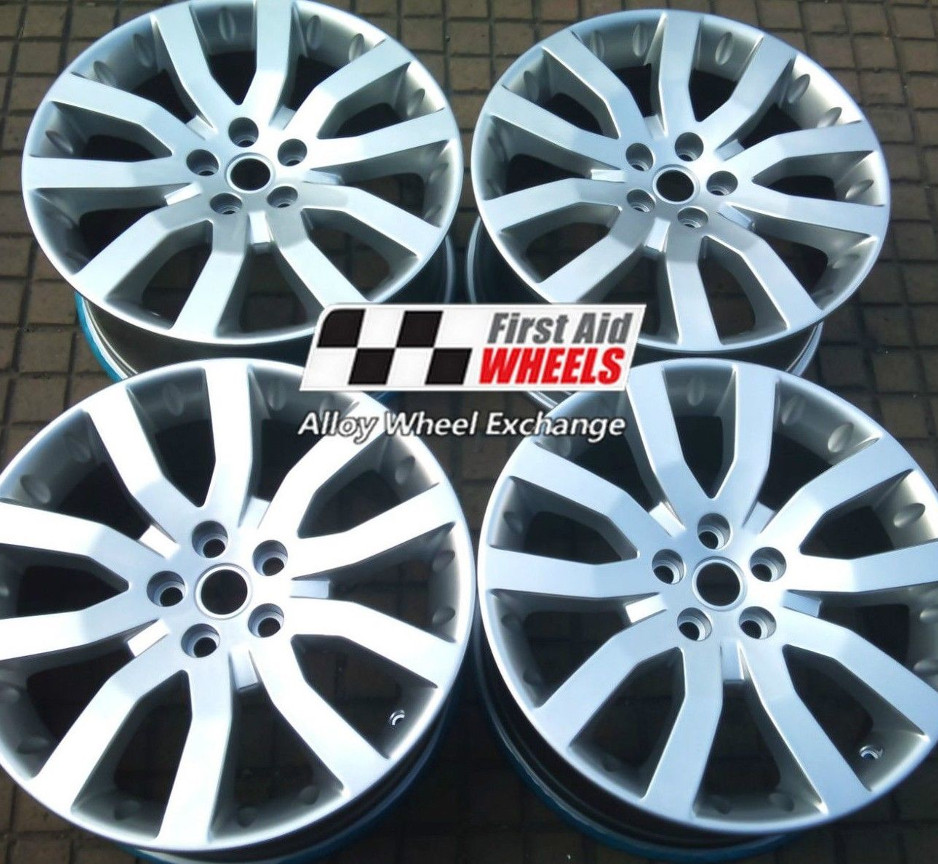"R124 Shadow Chrome RANGE ROVER SPORT 20"" - SUPERCHARGED Genuine Alloy Wheels Set of 4 - Exchange"