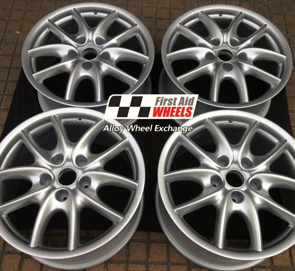"R134 Silver PORSCHE CAYENNE TURBO 19"" - Genuine Alloy Wheels Genuine Set of 4 - EXCHANGE"