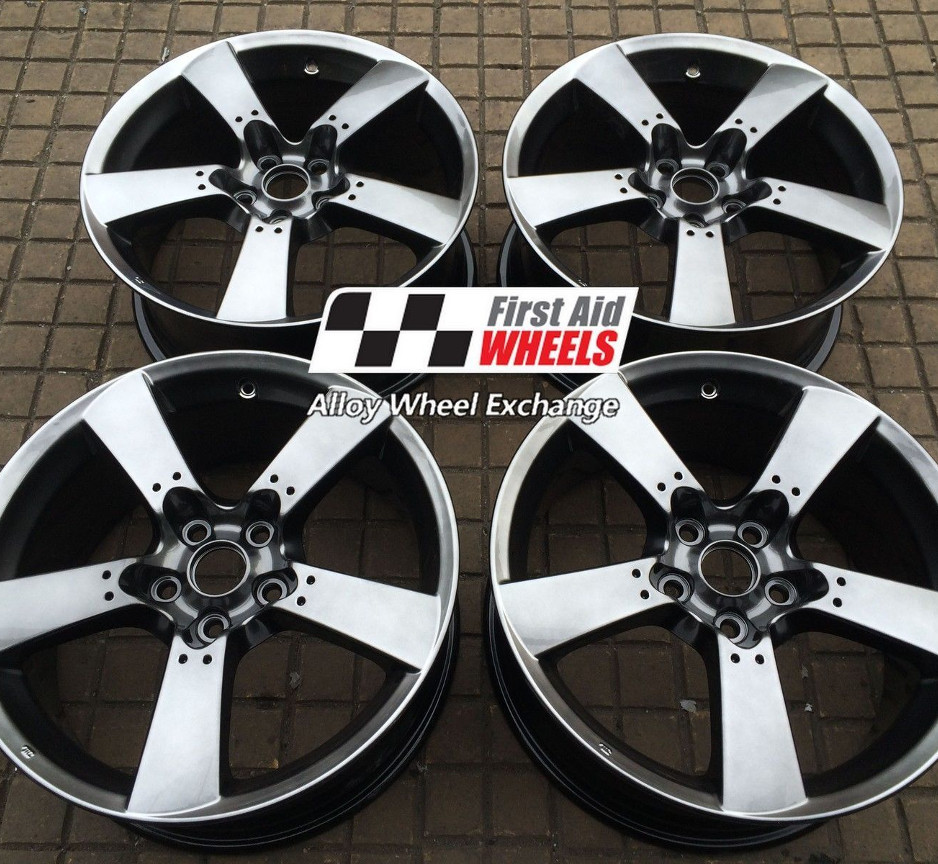 "R142 Shadow Chrome MAZDA RX8 18"" - 5 Spoke Genuine Alloy Wheels Set of 4 - EXCHANGE"