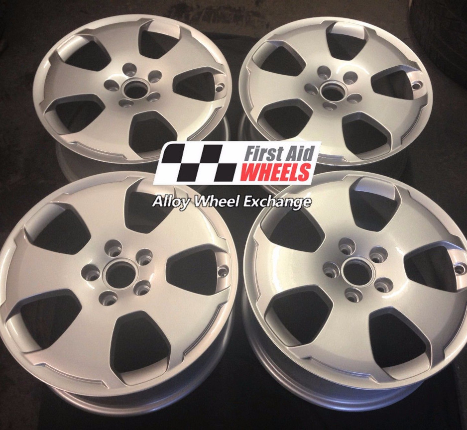 "R156 Silver Audi A3 17"" - 5 Hole Genuine Alloy Wheels Set of 4 - EXCHANGE"