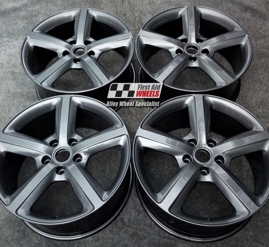 "R173 Anthracite AUDI Q7 20"" - 5 Spoke Genuine Alloy Wheels set of 4 - EXCHANGE"