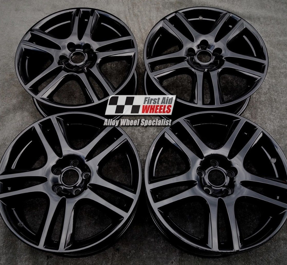 "R192 Gloss Black JAGUAR X-TYPE 18"" - ARUBA Genuine Alloy Wheels Set of 4 - EXCHANGE"