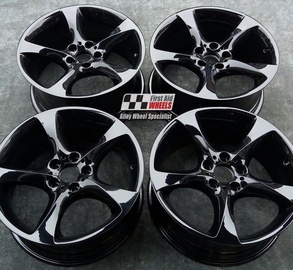 "R219 Gloss Black BMW 3 SERIES E90 E93 19"" - Style 230 Twist Genuine Alloy Wheels Set of 4 - EXCHANGE"