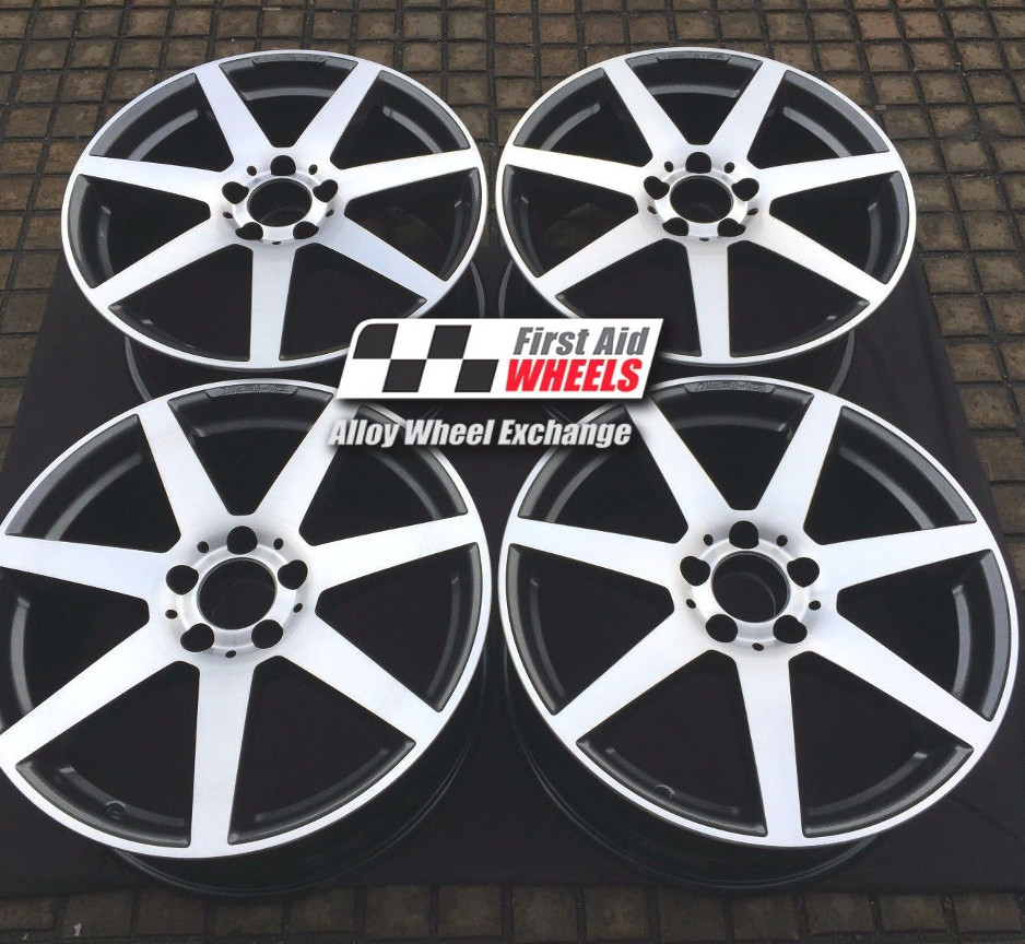 "R244 Diamond Cut Anthracite MERCEDES C-CLASS 18"" - AMG 7 Spoke Genuine Alloy Wheels Set of 4 - EXCHANGE"