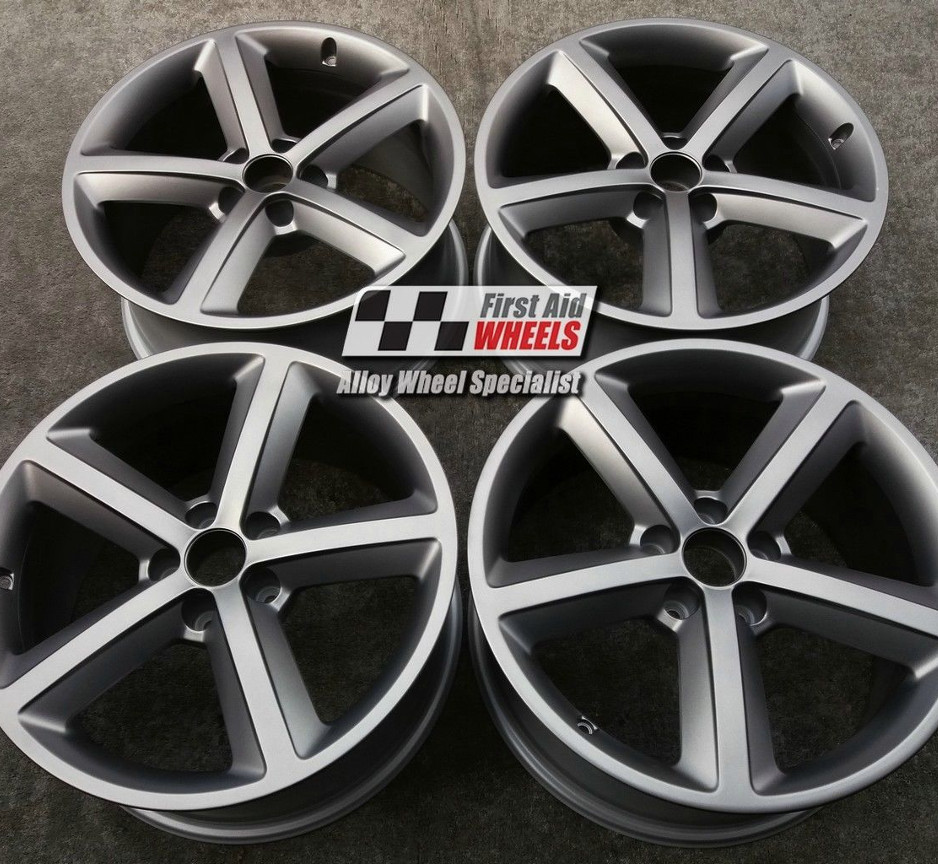 "R251G AUDI A4 18"" - 5 Spoke Genuine Alloy Wheels set of 4 - EXCHANGE"