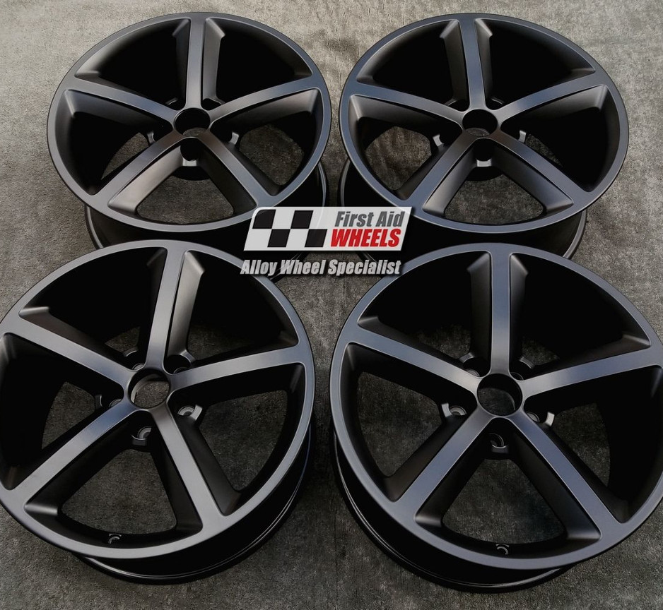 "R251 Satin Black AUDI A4 18"" - 5 Spoke Genuine Alloy Wheels set of 4 - EXCHANGE"