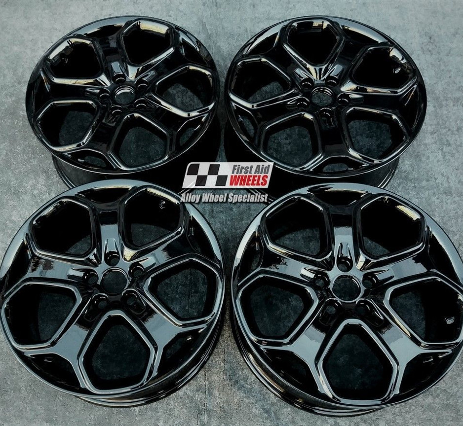 "R261 Gloss Black FORD FOCUS TITANIUM S 18"" - Y Spoke Genuine Alloy Wheels Set of 4 - EXCHANGE"