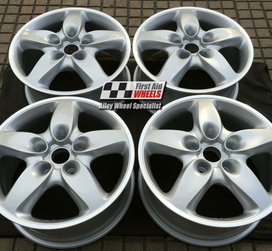 "R276 Silver PORSCHE CAYENNE TURBO 18"" - Genuine Alloy Wheels Set of 4 - EXCHANGE"