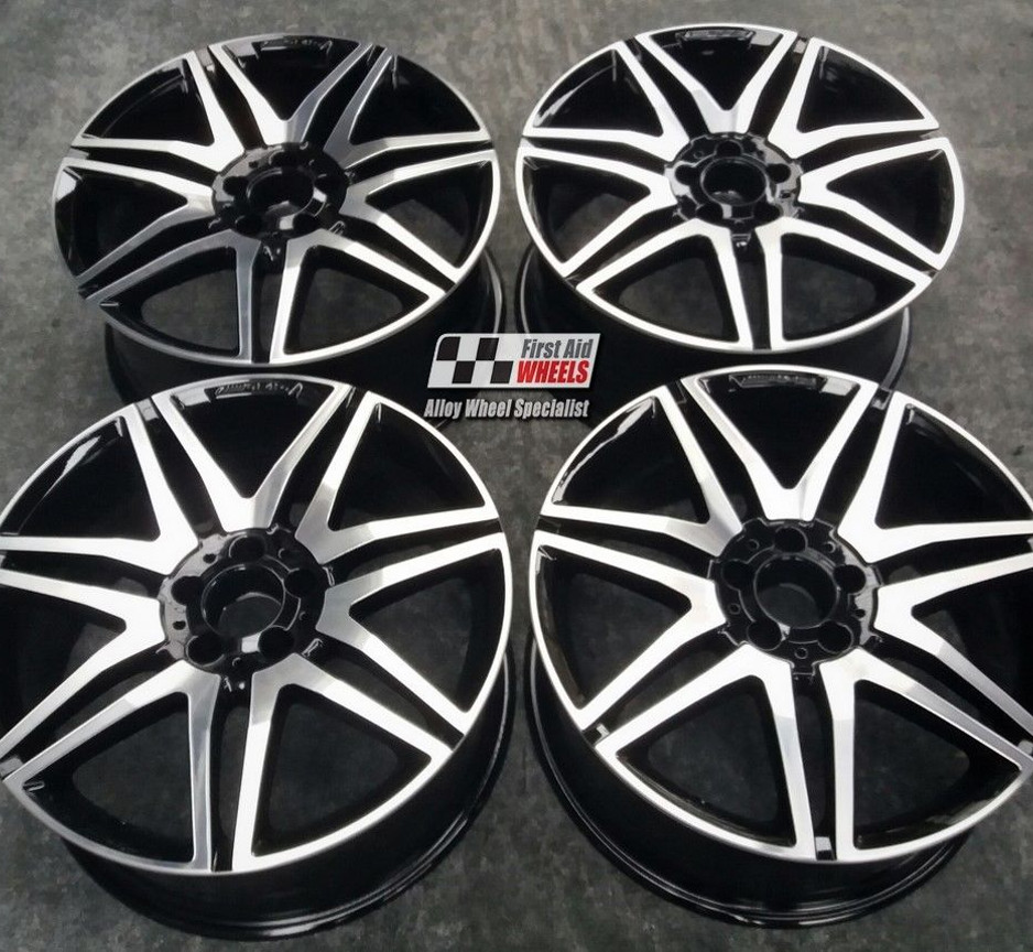 "R287 Diamond Cut Gloss Black MERCEDES E CLASS CONVERTIBLE/COUPE 19"" - AMG Genuine Alloy Wheels Set of 4 - EXCHANGE"