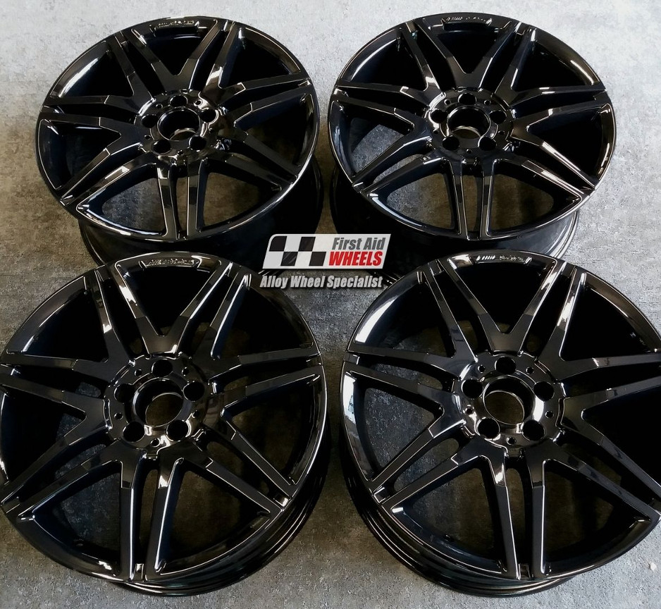 "R287 Gloss Black MERCEDES E CLASS CONVERTIBLE/COUPE 19"" - AMG Genuine Alloy Wheels Set of 4 - EXCHANGE"