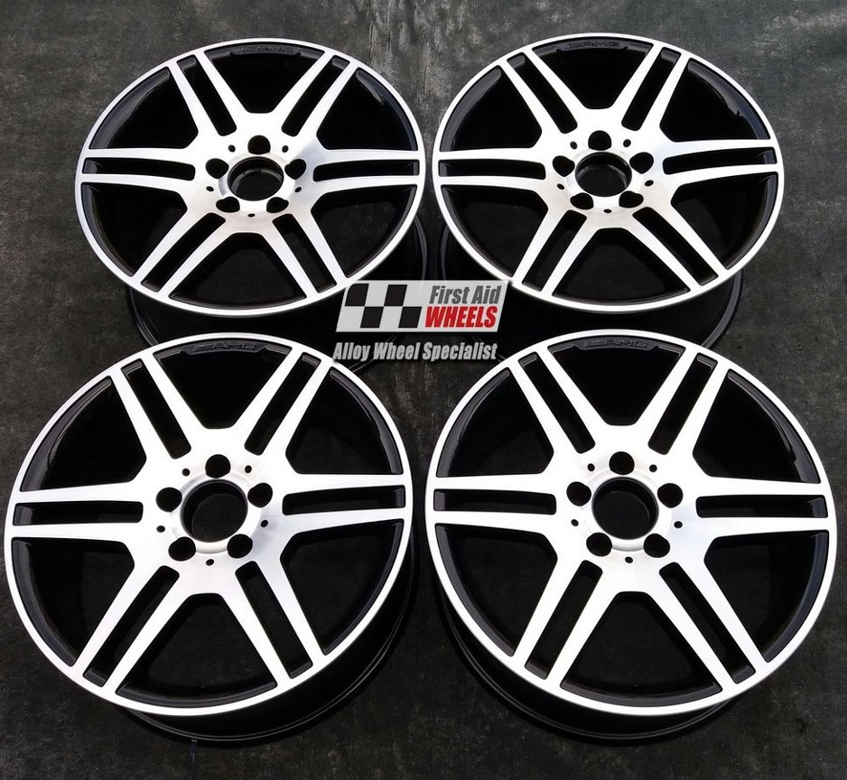 "R288 Diamond Cut Gloss Black MERCEDES E CLASS ESTATE/SALOON 18"" - AMG IV Genuine Alloy Wheels Set of 4 - EXCHANGE"