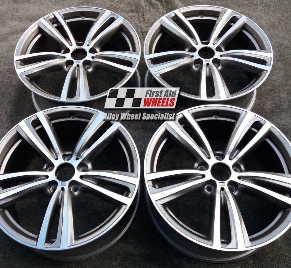 "R345 Diamond Cut Ferric Grey BMW 3 F30 4 F32 F33 19"" - 442M Genuine Alloy Wheels Set of 4 - EXCHANGE"