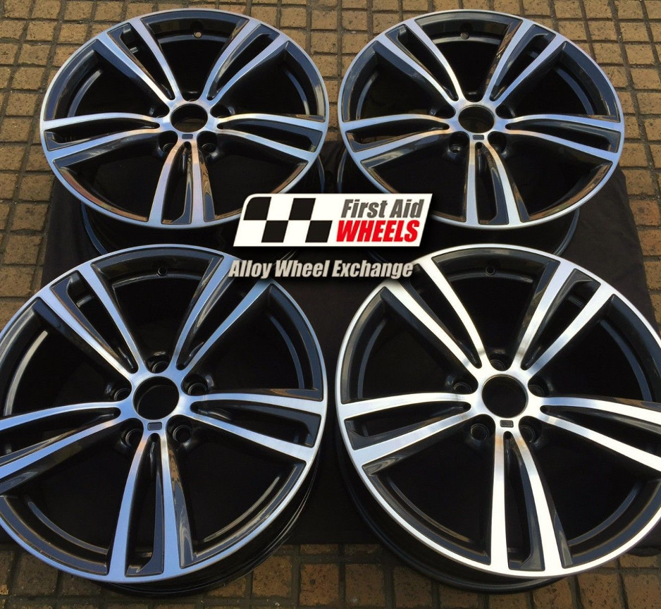 "R345 Diamond Cut Orbital Grey BMW 3 F30 4 F32 F33 19"" - 442M Genuine Alloy Wheels Set of 4 - EXCHANGE"
