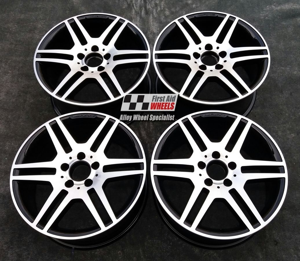 "R353 Diamond Cut Gloss Black MERCEDES E CLASS CONVERTIBLE/COUPE 18"" - AMG IV Genuine Alloy Wheels Set of 4 - EXCHANGE"