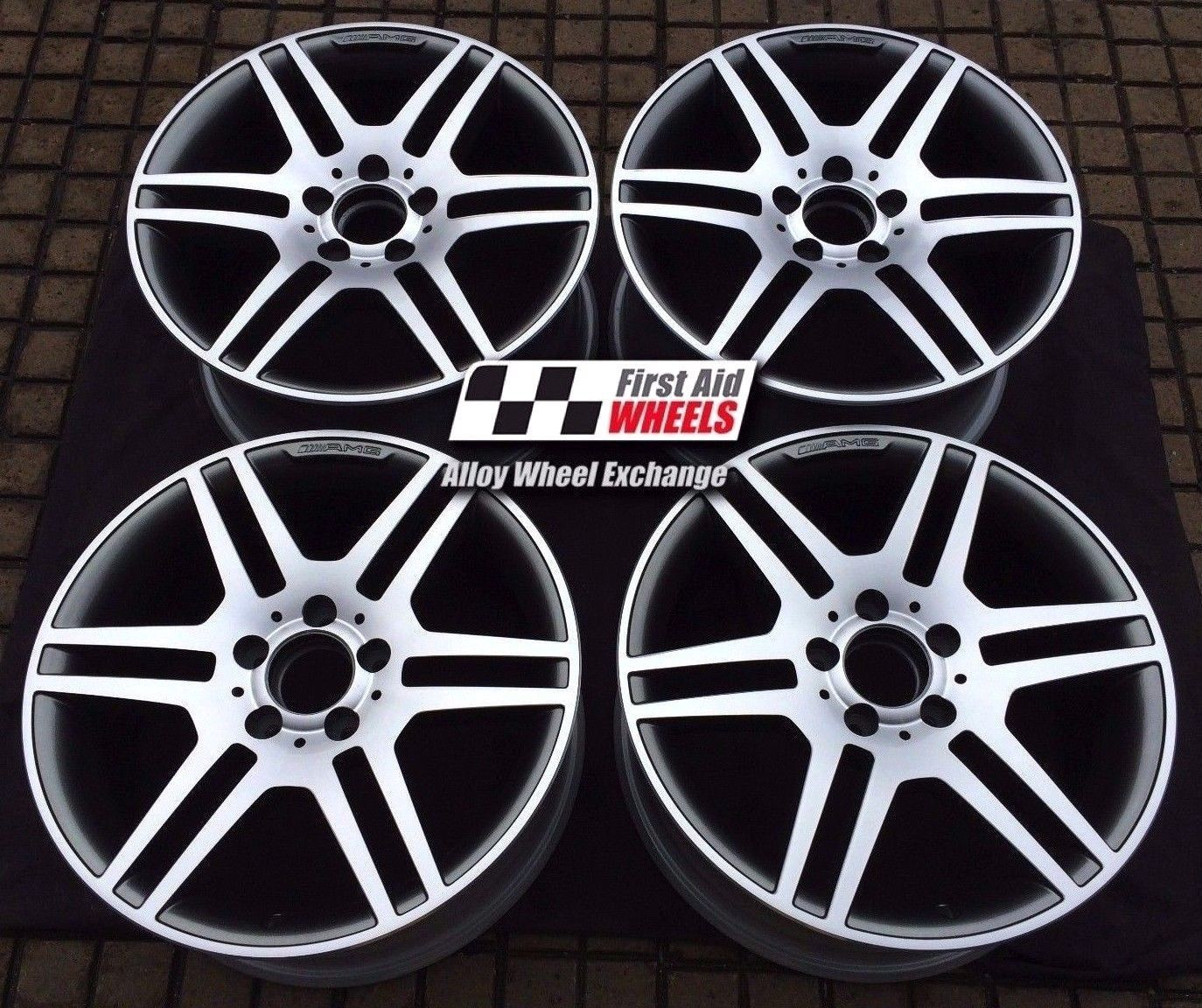 "R353 Diamond Cut Grey MERCEDES E CLASS CONVERTIBLE/COUPE 18"" - AMG IV Genuine Alloy Wheels Set of 4 - EXCHANGE"