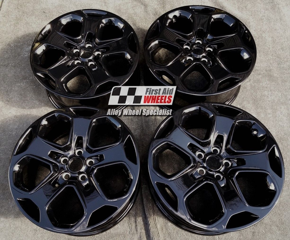 "R397 Gloss Black FORD MONDEO 18"" - Y Spoke Genuine Alloy Wheels Set of 4 - EXCHANGE"