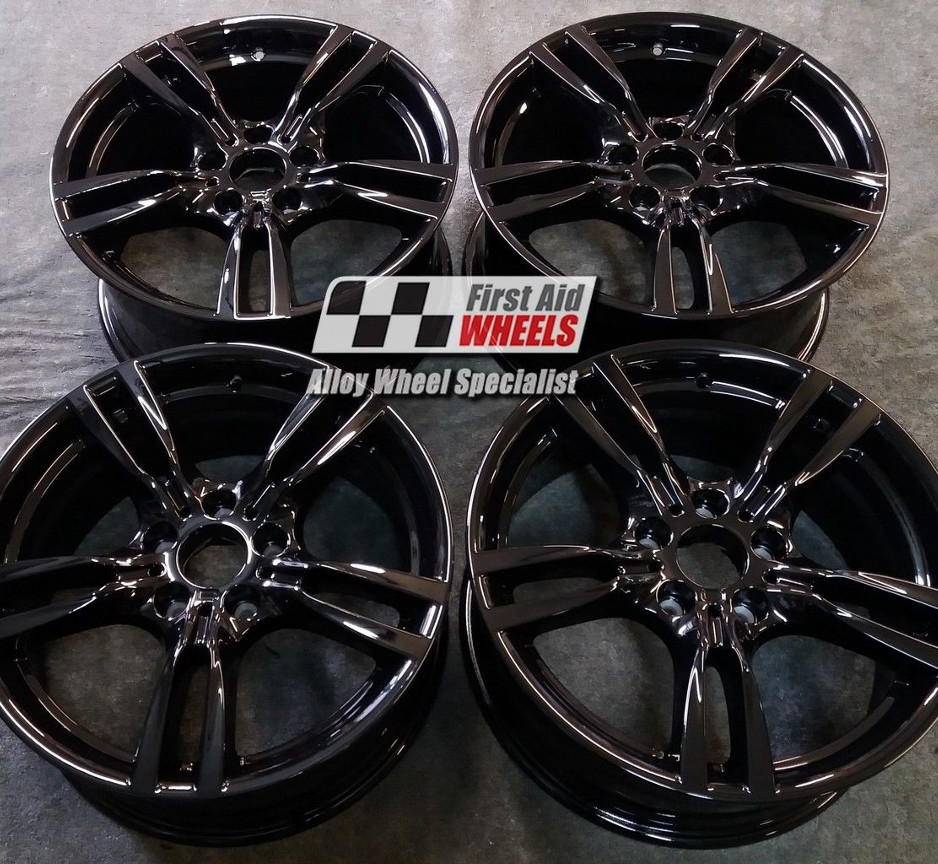 "R421 Gloss Black BMW 3 4 SERIES F30 F31 F32 F33 18"" - 400M Genuine Alloy Wheels Set of 4 - EXCHANGE"