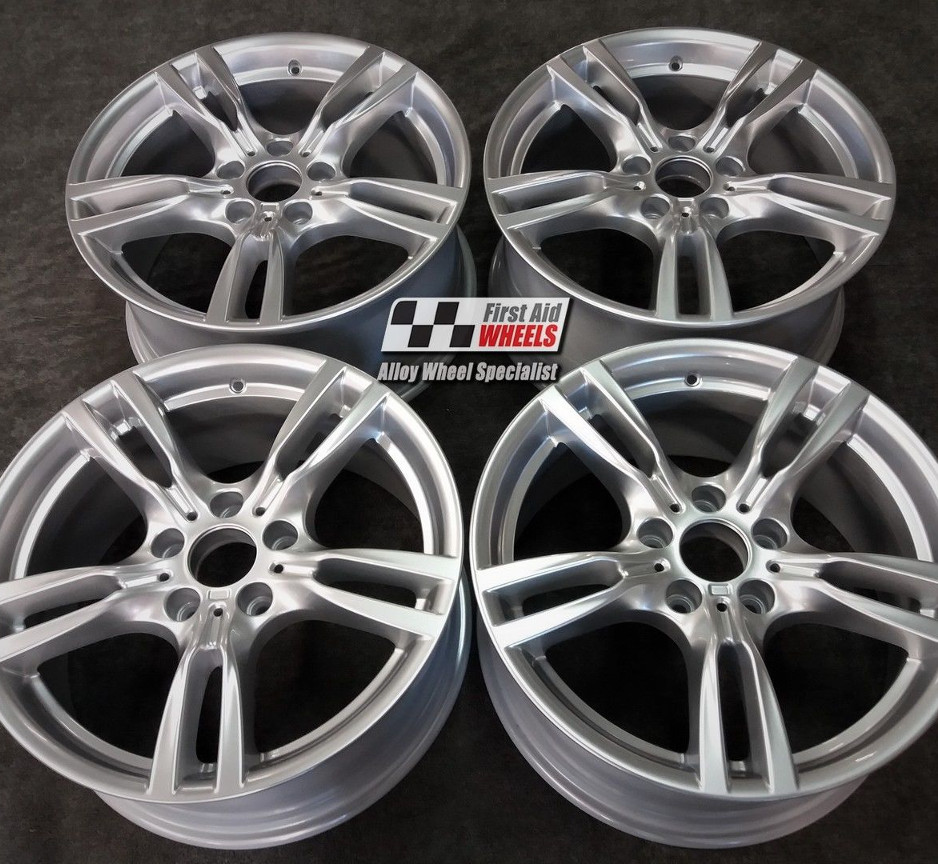 "R421 Silver BMW 3 4 SERIES F30 F31 F32 F33 18"" - 400M Genuine Alloy Wheels Set of 4 - EXCHANGE"