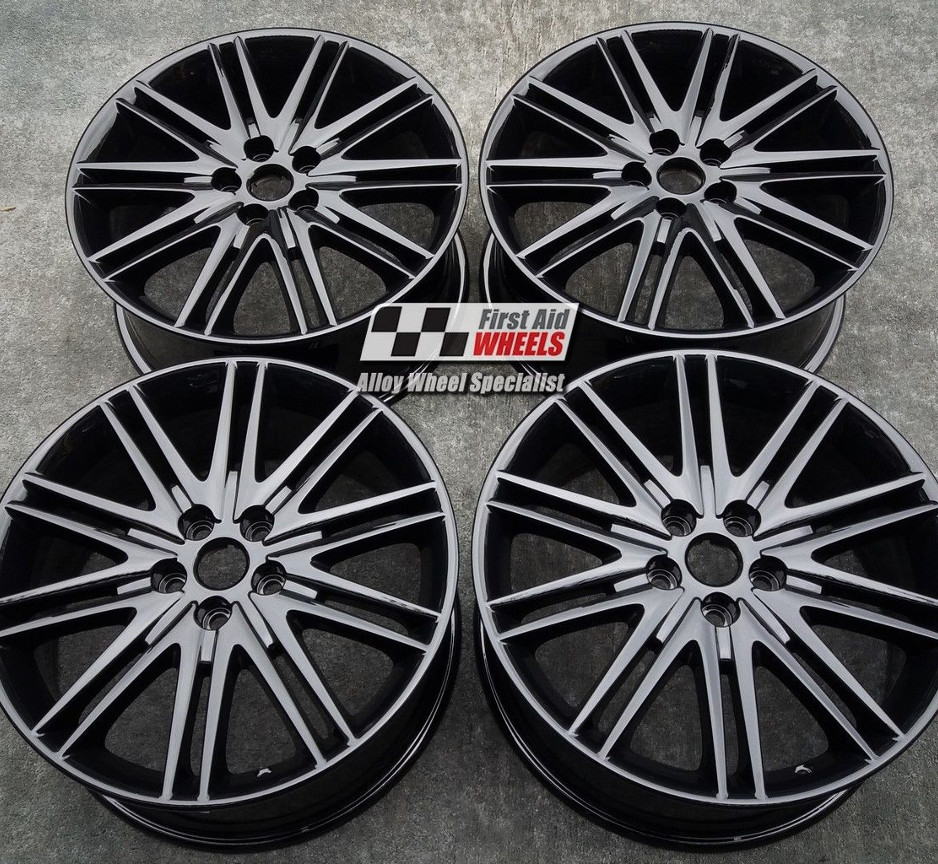 "R426 Gloss Black JAGUAR S-TYPE 18"" - TRITON 10 Twin Spoke Alloy Wheels Set of 4 - EXCHANGE"