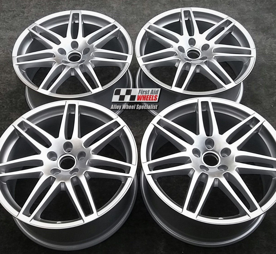 "R437 Silver AUDI Q7 20"" - 7 Double Spoke LE MANS Genuine Alloy Wheels Set of 4 - EXCHANGE"