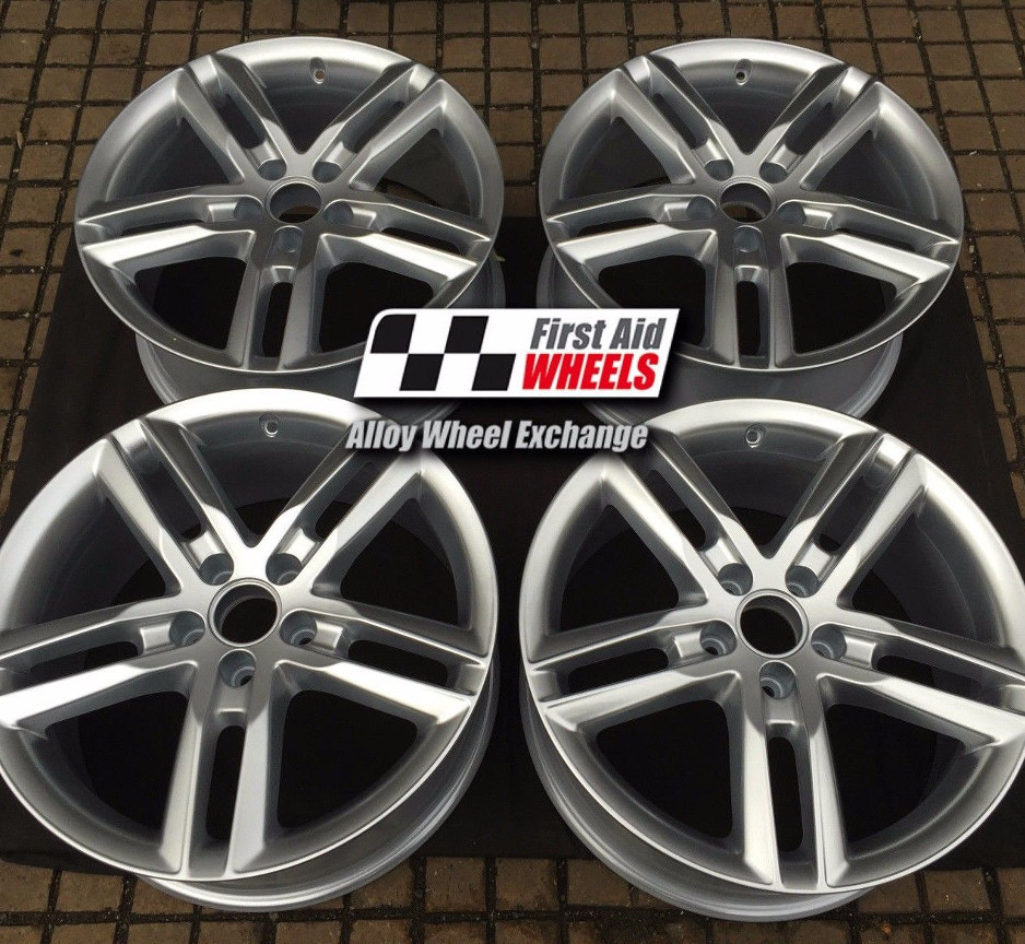 "R440 Silver AUDI Q3 8U 18"" - 5 Double Spoke Genuine Alloy Wheels Set of 4 - EXCHANGE"