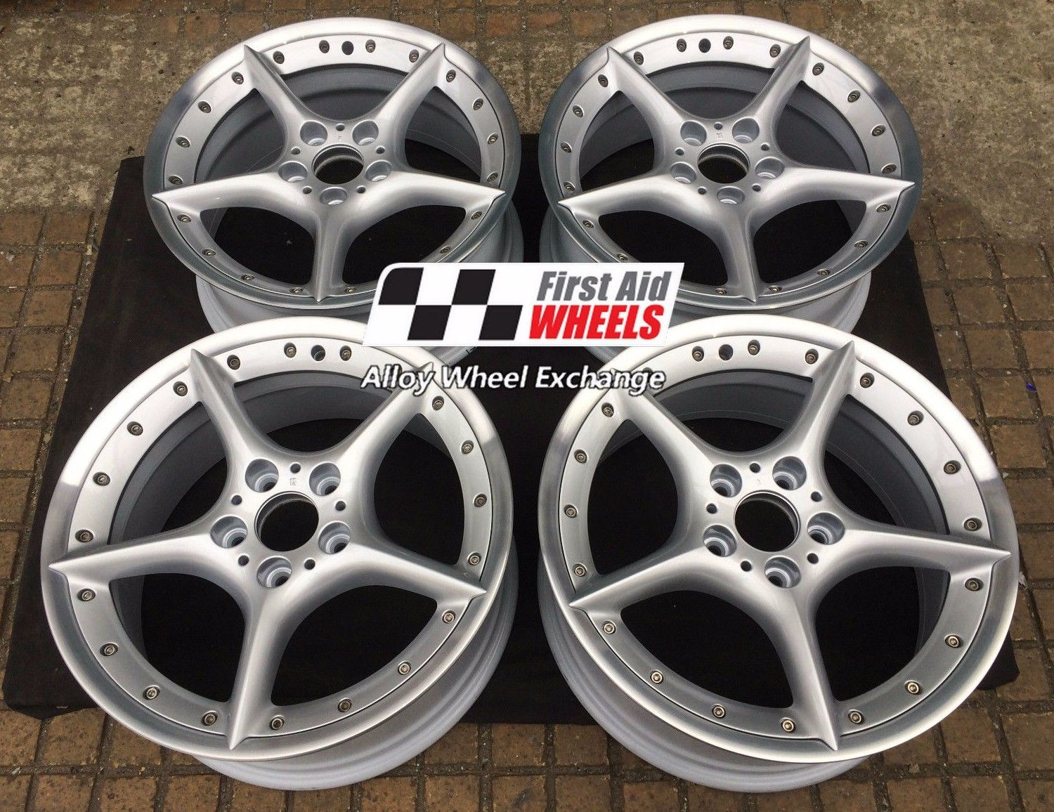 "R107 Silver BMW Z4 18"" - BBS Split Rim Style 108 Genuine Alloy Wheels Set of 4 - EXCHANGE"