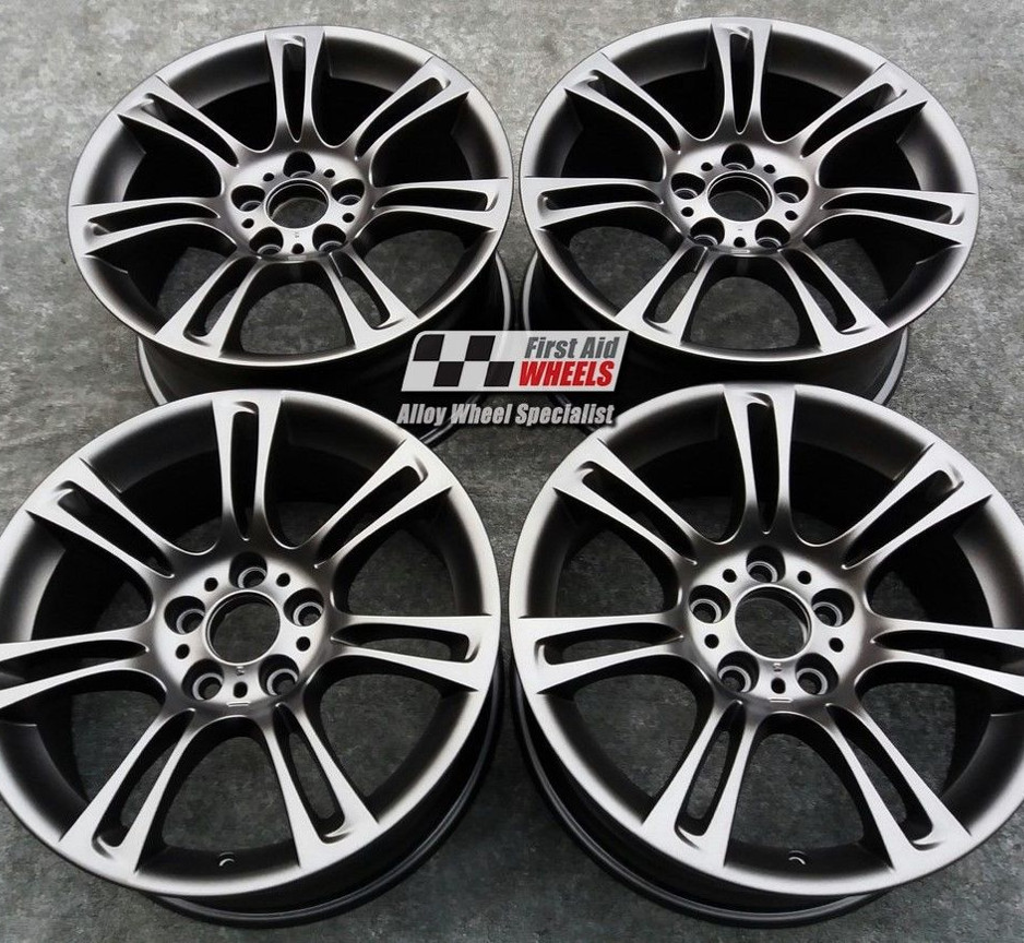 "R117 Matt Mistral Anthracite BMW 5 SERIES F10 F11 18"" - M-SPORT 350 Genuine Alloy Wheels Set of 4 - Exchange"